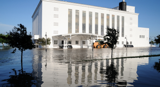 Commercial property flood damage